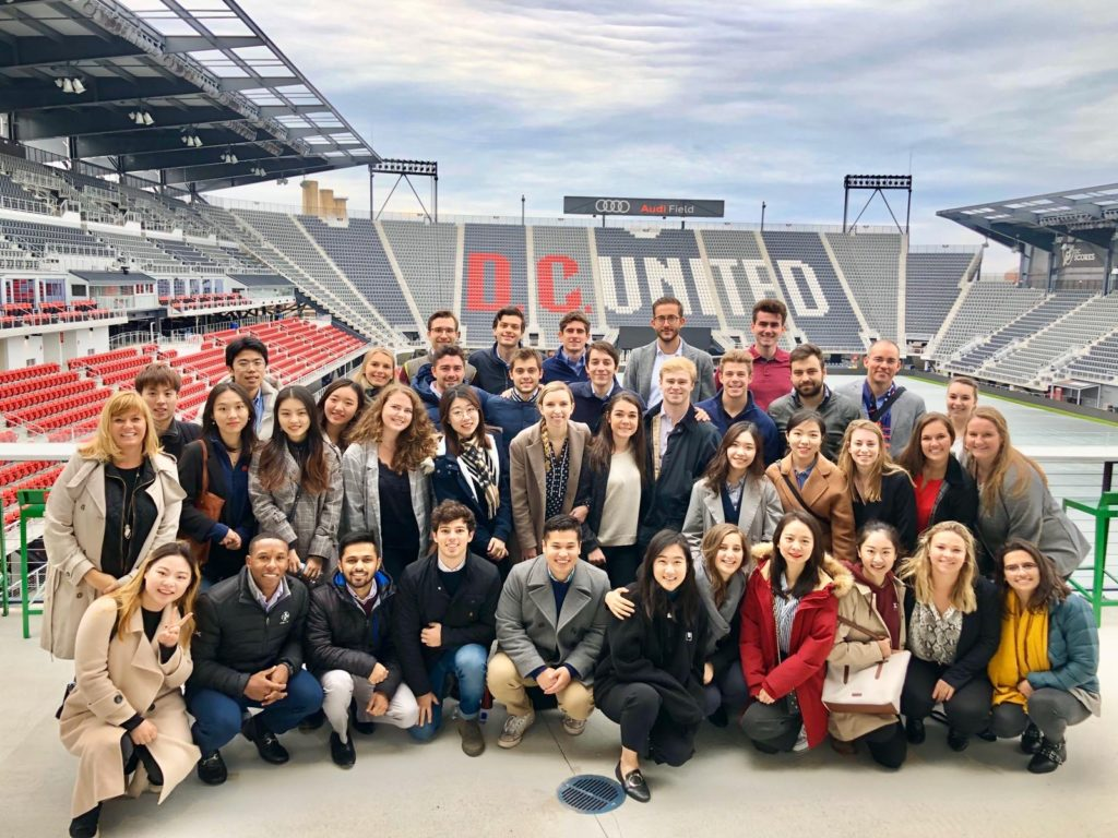 students at the DC United stadium