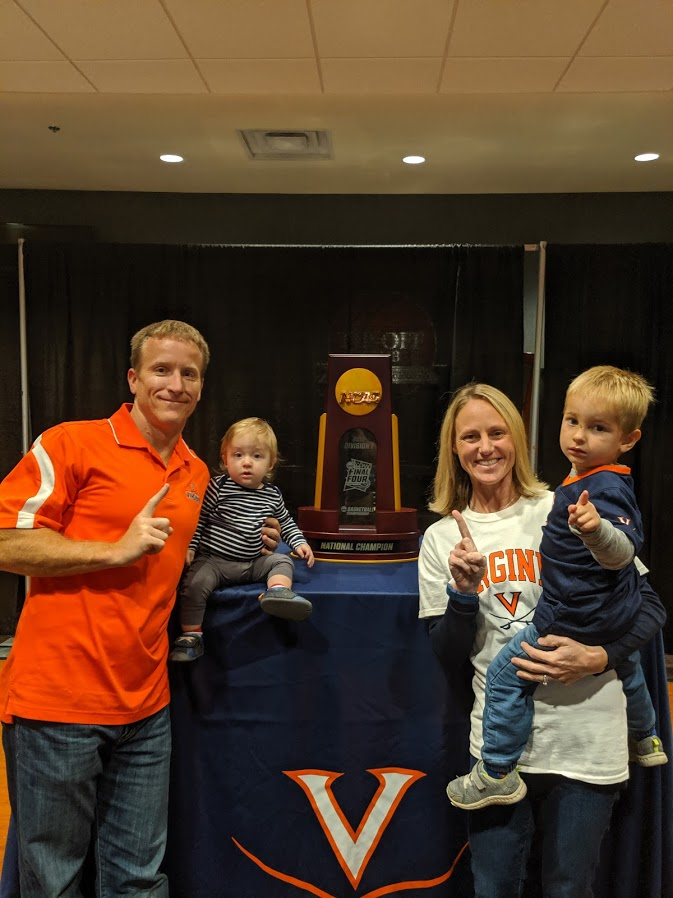 Professor Eric Negangard with his family