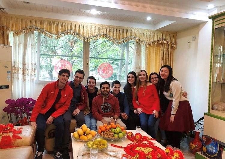 students smiling together