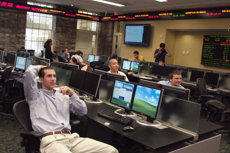 Students struggle to master global markets during the annual McIntire Hedge Fund Tournament.